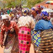 Yao women in Malawi dance in front of a crowd