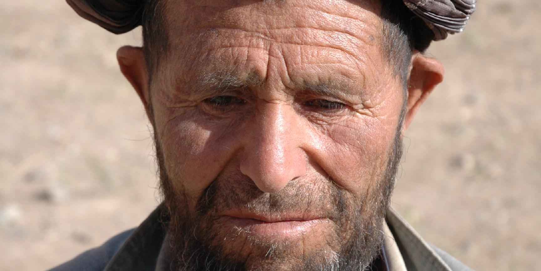 An elderly man in a turban