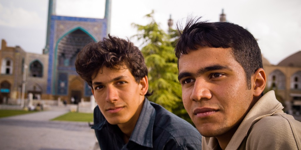 Two young men in a Persian speaking country