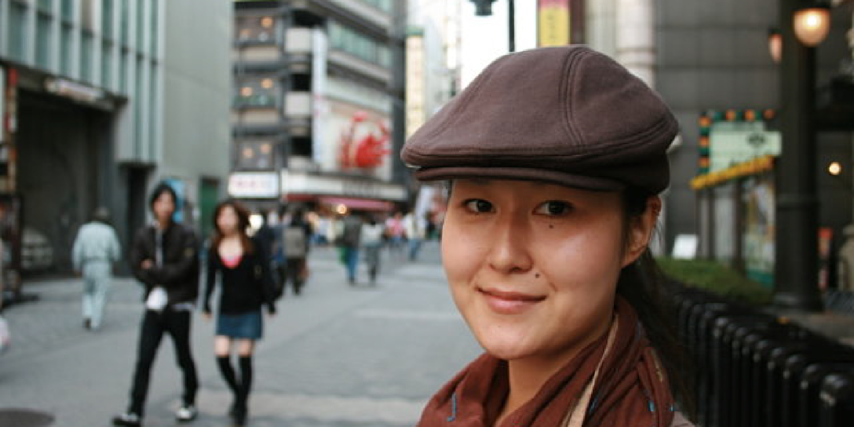 A young woman in Tokyo