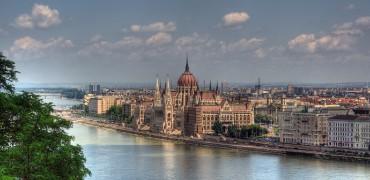 Budapest at dusk