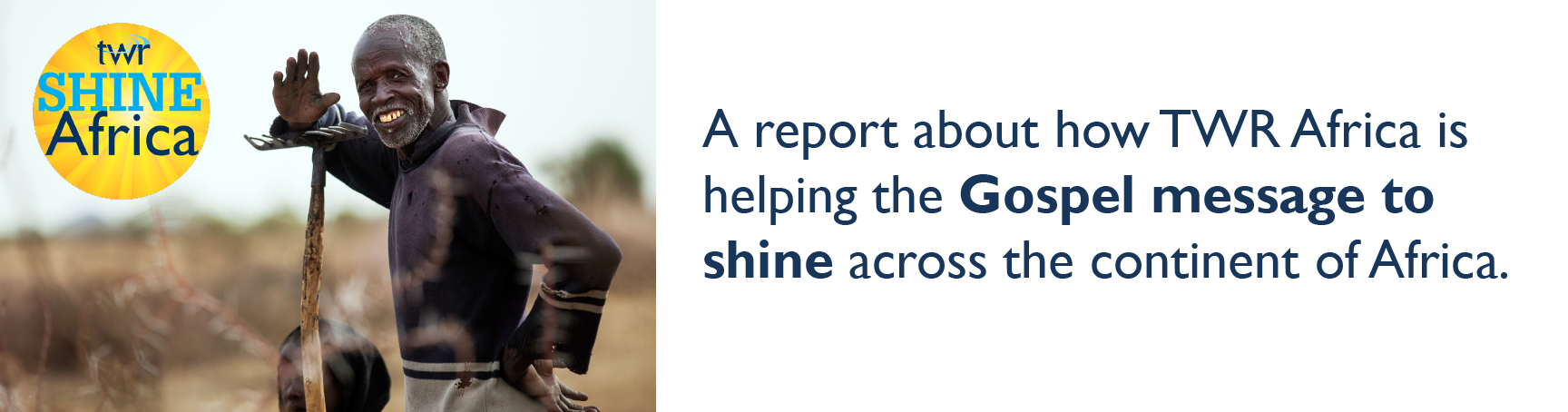 A report about how TWR Africa is helping the Gospel message to shine across the continent of Africa.