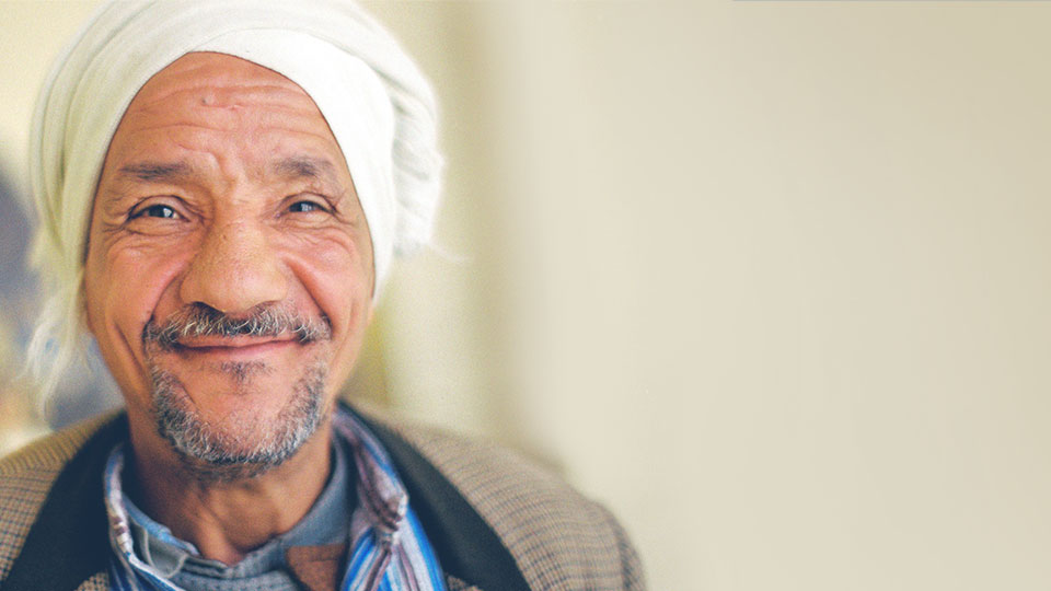 A Middle-Eastern man in a turban.