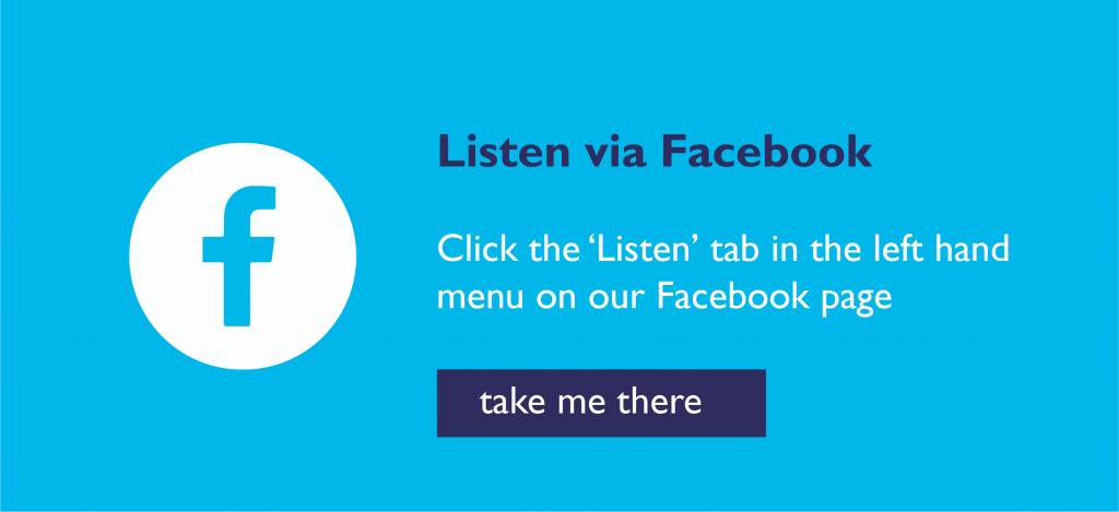 listen on facebook